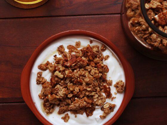 reteță granola cu banane
